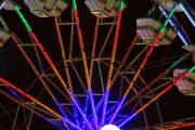 Lightning Decorations Photo Prints - Farris Wheel Clos-up Print by James Bo Insogna