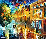 Amsterdam Painting Posters - Fascination  Poster by Leonid Afremov