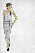 Apparel Digital Art Prints - Fashion Illustration 1 Print by Janet Carlson