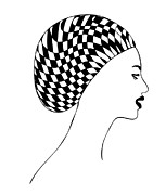 Headwear Prints - Fashion illustration Print by Frank Tschakert