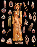 Olive Wood Sculpture Posters - Fashion Jewellery tour Poster by Eric Kempson