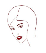 Profile Drawings Posters - Fashion Model Poster by Frank Tschakert