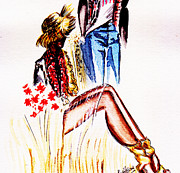 Fashion Painting Print by Remy Francis