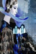 America Mixed Media - Fashion Series 03 by Maria Szollosi