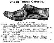 Tennis Shoe Art - Fashion: Sneakers, 1895 by Granger