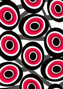 Abstract Fashion Prints - Fashion Spots  Print by Louisa Knight