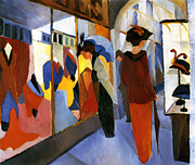 Macke Framed Prints - Fashion Store Framed Print by Stefan Kuhn
