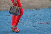 Fashionably Red Print by Karol  Livote