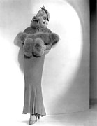 Fur Stole Prints - Fashions Of 1934, Bette Davis, 1934 Print by Everett