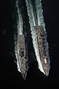Boats At Dock Photo Posters - Fast Combat Logistic Support Ship Usns Poster by Stocktrek Images