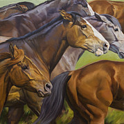 Impressionistic Horse Paintings - Fast Food by JQ Licensing