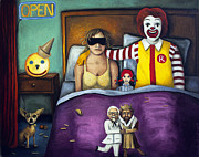 Fast Food Paintings - Fast Food Nightmare by Leah Saulnier The Painting Maniac