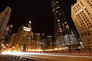 Michigan Avenue Framed Prints - Fast Forward Framed Print by Daniel Chen