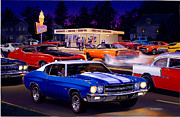 Retro Car Photos - Fast Freds by Bruce Kaiser