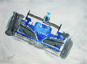 Danica Patrick Paintings - Fast Girl by William  Homeier