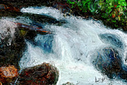 Stream Digital Art Prints - Fast Water Print by David Kyte