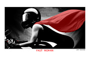 Taliaferro Posters - Fast Woman Poster by Jerry Taliaferro