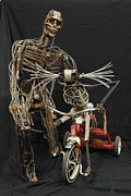 Surrealism Sculpture Originals - Faster by Eddie Sparr