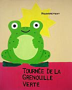 Montmartre Paintings - Fat Frog Best by Oliver Johnston