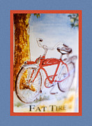 Yellow Bike Framed Prints - Fat Tire Ale Framed Print by Carol Leigh