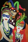 Mardi Gras Paintings - Fat Tuesday 2011 by James  Christiansen