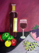 Mardi Gras Paintings - Fat Tuesday Evening Still Life Mardi Gras by Cathy Jourdan