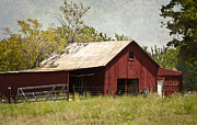 Old Barns Metal Prints - Fate Barn Metal Print by Lisa Moore