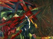 Fate Paintings - Fate of the Animals by Franz Marc