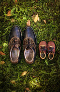 Shoe Photos - Father And Child by Joana Kruse