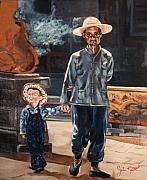 Son Paintings - Father and Son by John Keaton