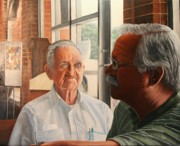 Photorealism Prints - Father and Son Print by Mike Ivey
