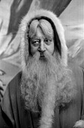 Looking Sideways Prints - Father Christmas Print by Kurt Hutton