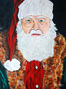Santa Paintings - Father Christmas by Rick Adkins