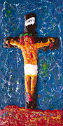 Cross Reliefs Framed Prints - Father  Forgive  Them Framed Print by Carl Deaville
