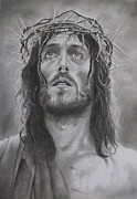 Religious Drawings Metal Prints - Father forgive them...  Metal Print by Mike OConnell