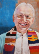 Shawl Pastels - Father Gerry by M Diane Bonaparte