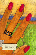 Grief Therapy Mixed Media - Father I Stretch My Hand to THEE by Angela L Walker