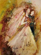 Inspirational Paintings - Father Of The Bride by Deborah Nell
