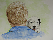 Sheepdog Paintings - Fathers Day by Carol Blackhurst