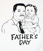 Daddy Drawings Posters - Fathers Day Poster by G Cuffia