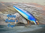 Nike Photo Prints - Fathers Day Greeting Card - Vintage Floyd Roman Nike Fishing Lure Print by Mother Nature