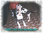 Puppies Mixed Media - Fathers Day by Poni Trax