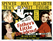 Films By Vincente Minnelli Posters - Fathers Little Dividend, Joan Bennett Poster by Everett
