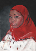 Fatima Paintings - Fatima by Rosetta  Jallow