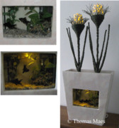 Fine Art Sculptures Mixed Media - FAUNA AND FLORA  aquarium sculpture by Thomas Maes