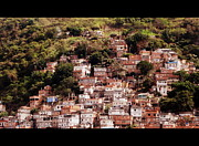 Rio De Janeiro Framed Prints - Favela, Rio De Janeiro. Framed Print by Philippe Cohat