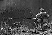 Chaise Photo Originals - Favorite Fishing Hole by Mark Hendrickson
