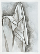 Relaxed. Drawings Framed Prints - Favorite Shirt Framed Print by Rebecca Moore