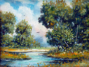 Swimming Hole Paintings - Favorite Spot by Charles Yates