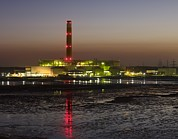 Boiler Photo Posters - Fawley Oil Fired Power Station At Dusk Poster by David Parker